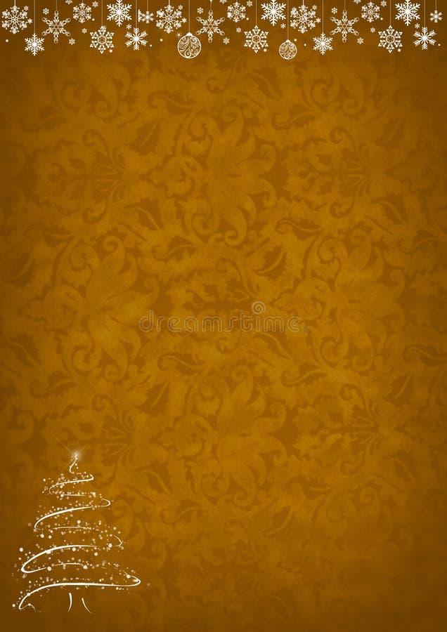 Guld- modellbakgrund för jul fotografering för bildbyråer