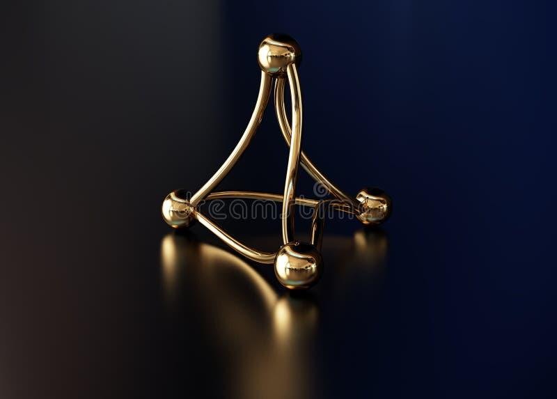 guld- molekyl royaltyfri foto