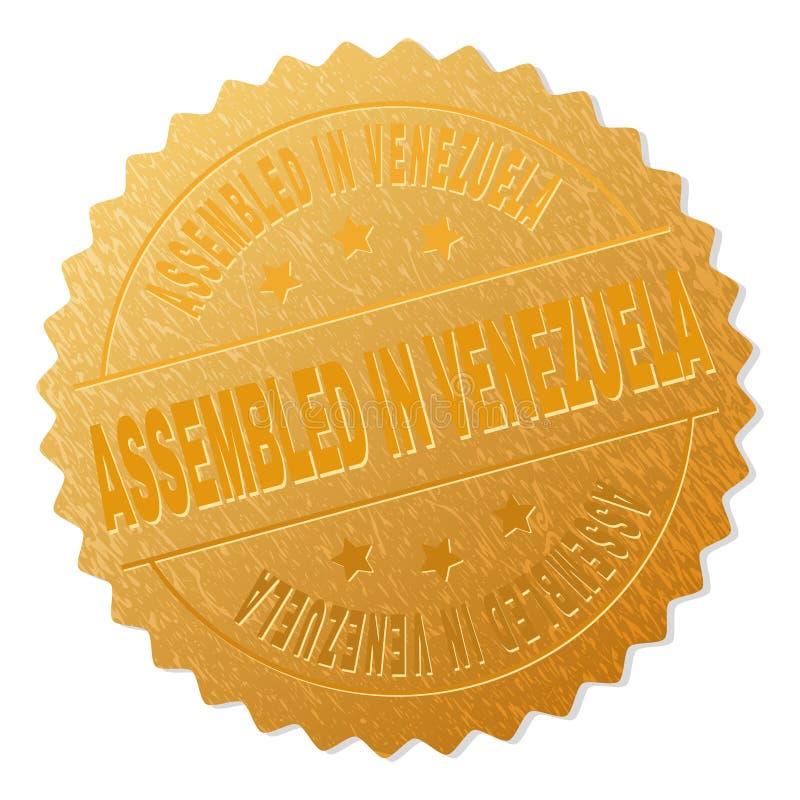 Guld- MONTERAT I VENEZUELA medaljstämpel royaltyfri illustrationer