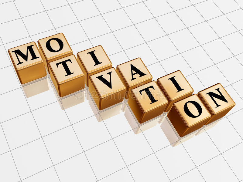 guld- motivation royaltyfri illustrationer