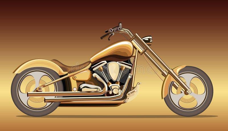 guld- motorbike vektor illustrationer