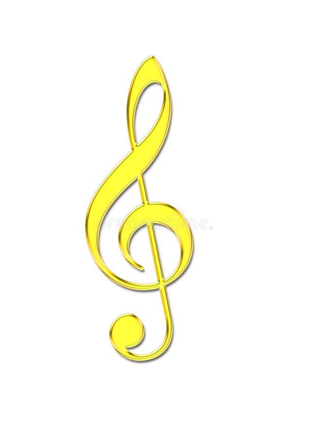 guld- musikanmärkning royaltyfri illustrationer