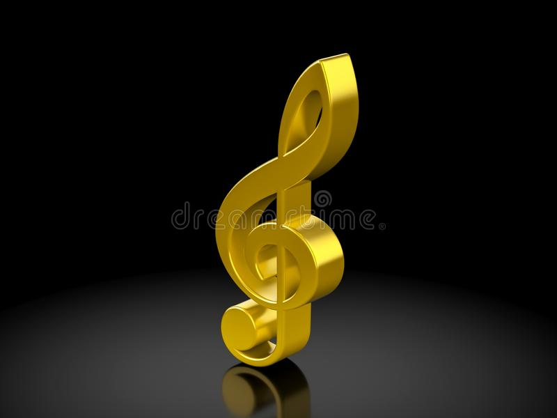 Guld- musikanmärkningssymbol vektor illustrationer