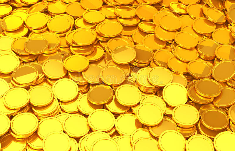 Guld- mynt royaltyfri illustrationer