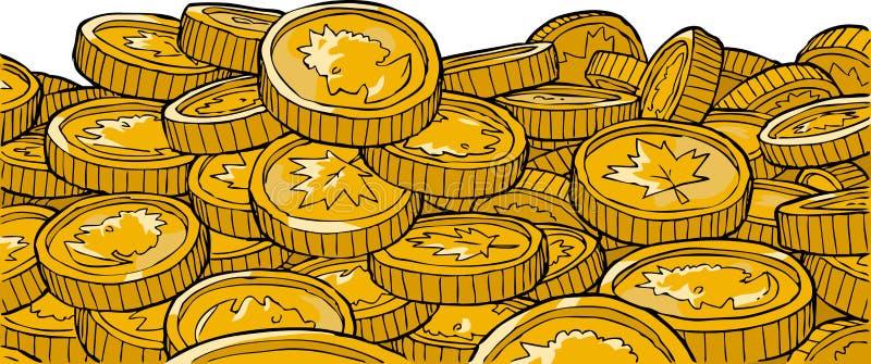 Guld- myntar stock illustrationer