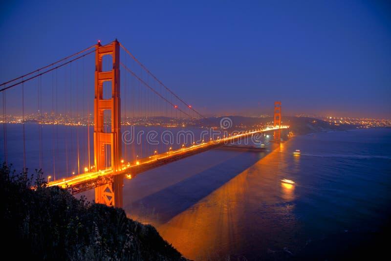 guld- natt för port arkivfoton