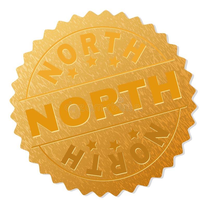 Guld- NORR medaljstämpel royaltyfri illustrationer