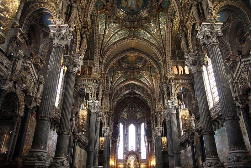 Guld- Notre Dame arkivfoto