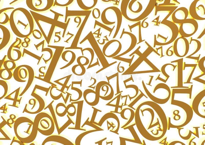 Guld- nummerbakgrund stock illustrationer