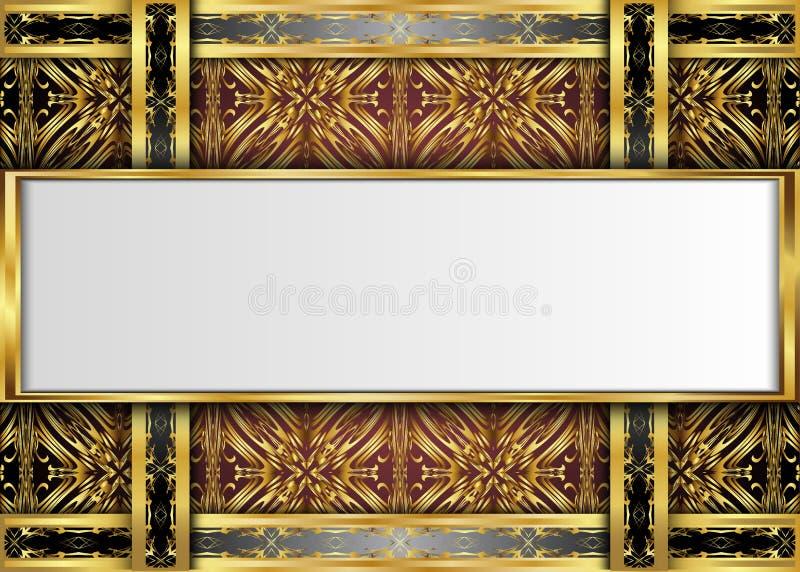 Guld- och mörk tappningbakgrund vektor illustrationer