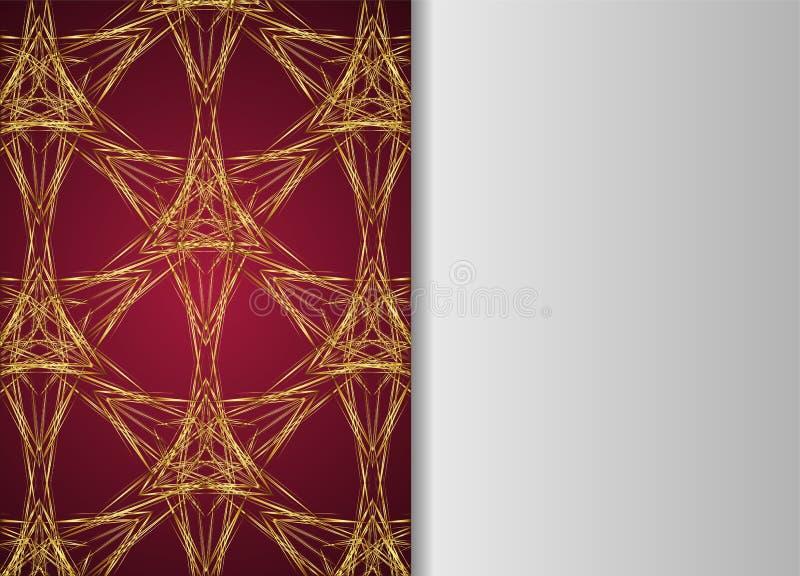 Guld- och mörk tappningmodell vektor illustrationer
