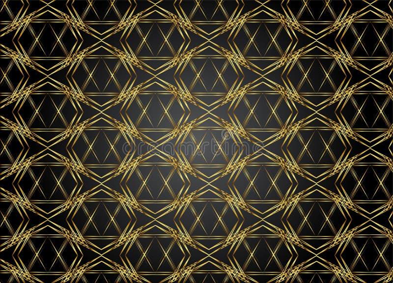 Guld- och mörka modelltappningbakgrunder för design vektor illustrationer
