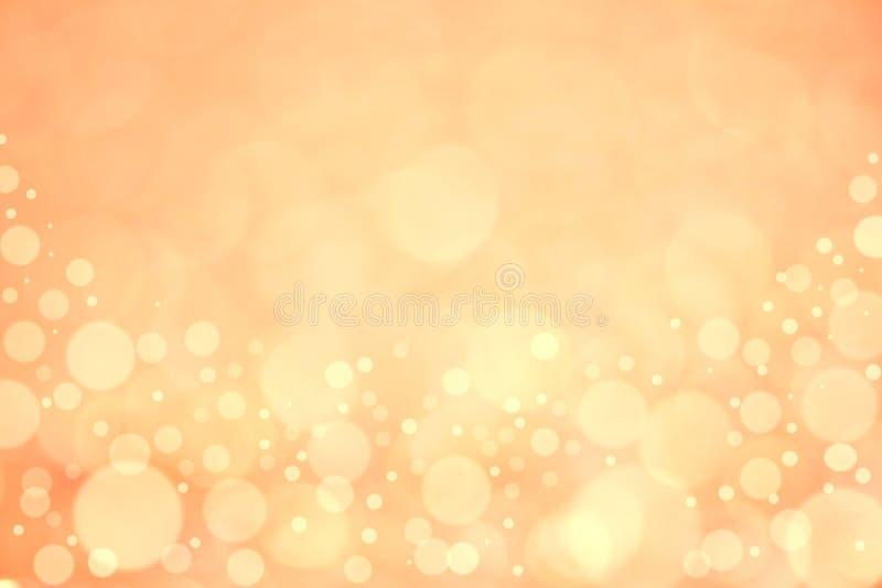 Guld- och orange lutningbokehbakgrund royaltyfri bild