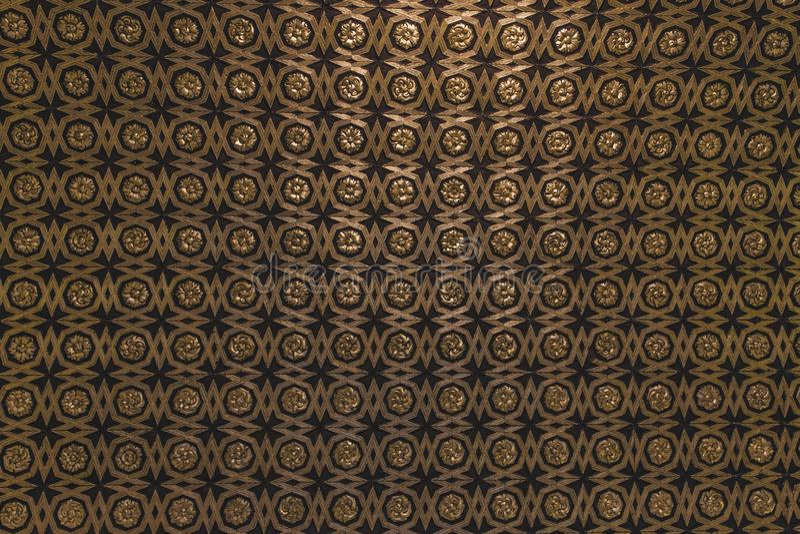 Guld- och svart modellbakgrundsoscuro arkivbilder
