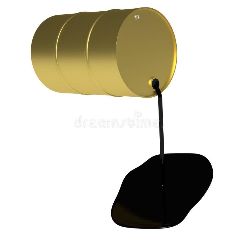 guld- olja för trumma royaltyfri illustrationer