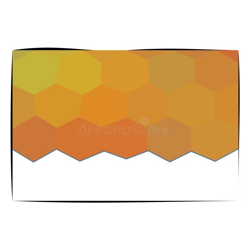 Guld- orange honungskakor och kopian gör mellanslag kortdesign royaltyfri illustrationer