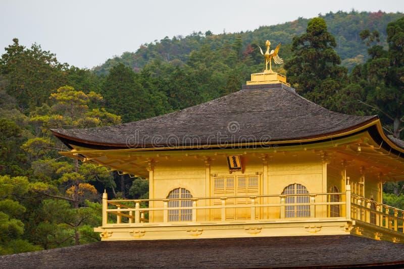 Guld- pavilian för Kinkakuji tempel fotografering för bildbyråer