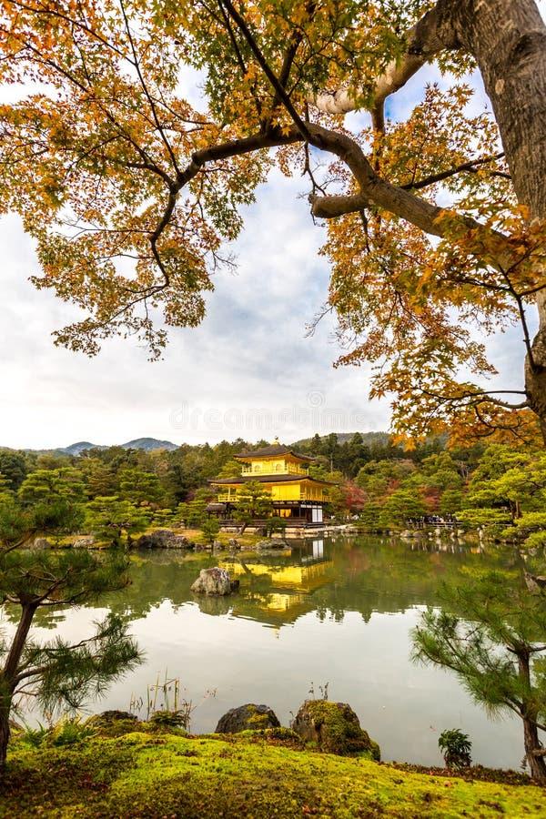 Guld- paviljong Kinkakuji arkivbild