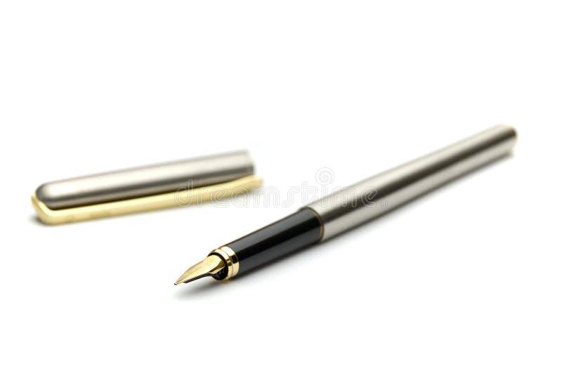 guld- penna för springbrunn royaltyfri bild