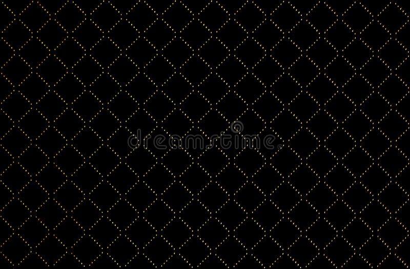 Guld- plädtextur i svart bakgrund royaltyfria bilder