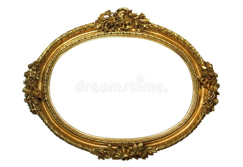 Guld- pläterade trä inramar royaltyfri foto