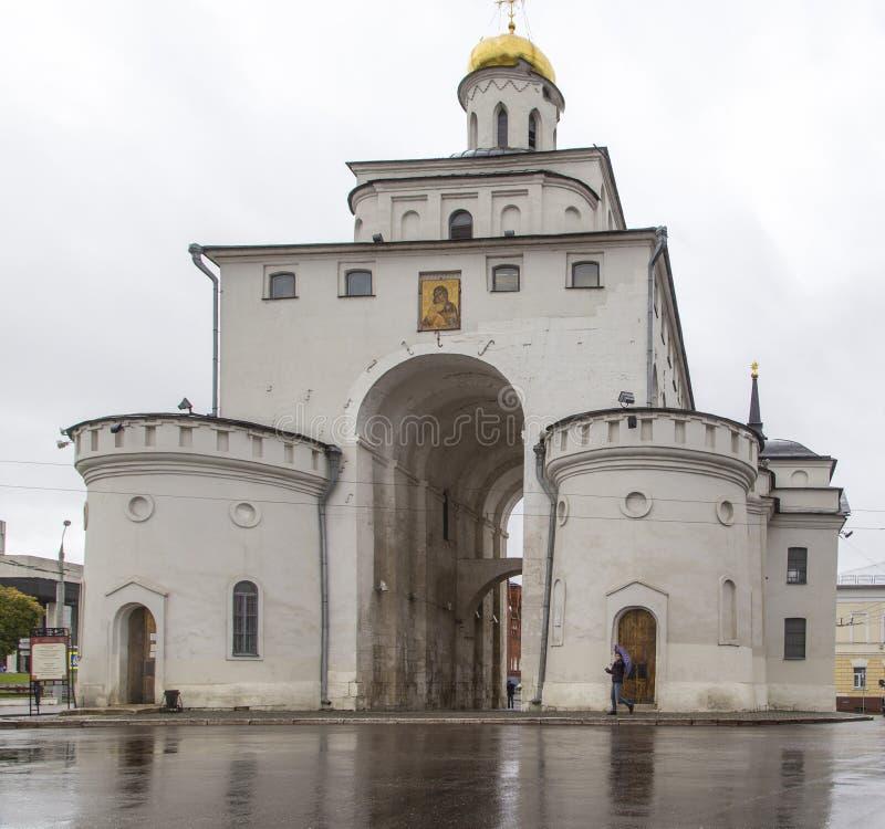 Guld- port i vladimir, ryssfederation arkivfoto