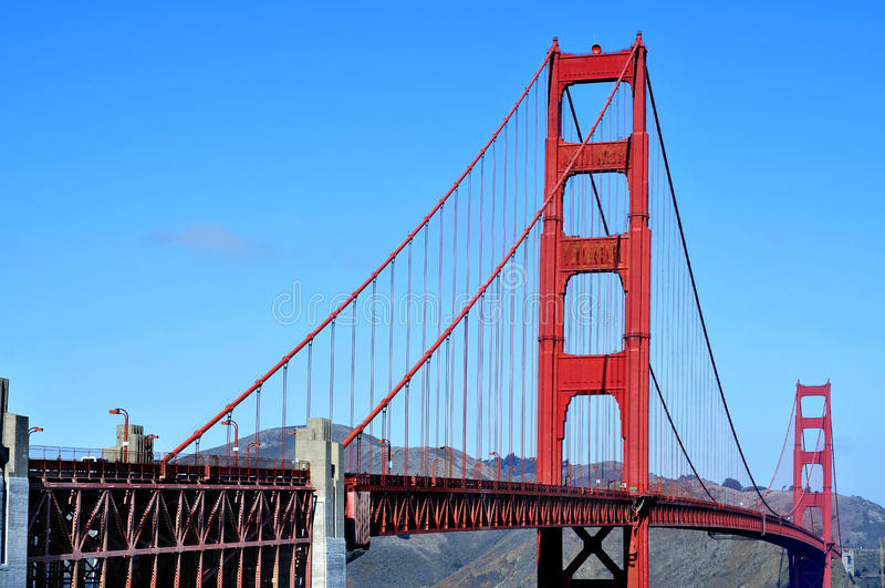 Guld- portbro, San Francisco, United States royaltyfri bild