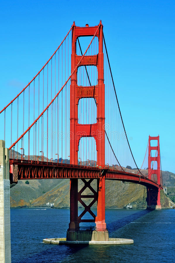 Guld- portbro, San Francisco, United States royaltyfri foto