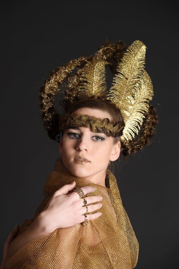 Guld- prinsessafe royaltyfri fotografi
