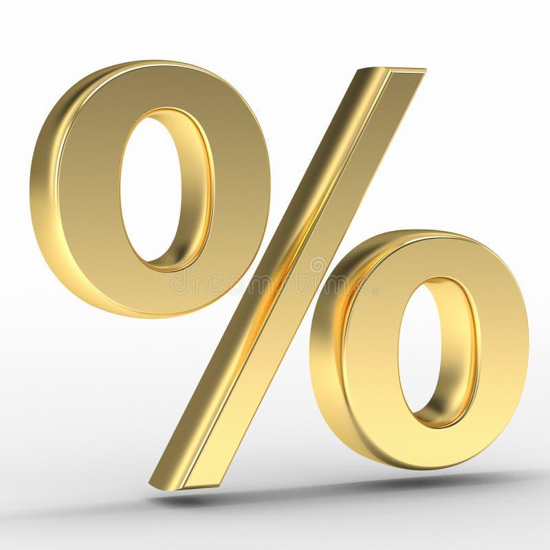 Guld- procentsatstecken vektor illustrationer