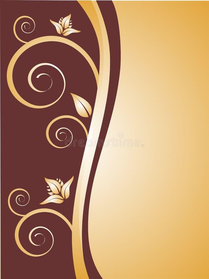 guld- prydnadar royaltyfri illustrationer