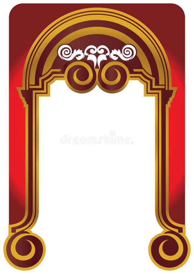 Guld- ram f royaltyfri illustrationer