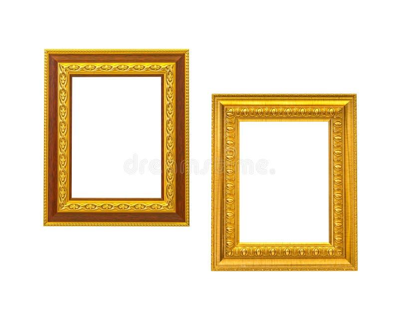 Download Guld- ram för tappning två fotografering för bildbyråer. Bild av retro - 27279757