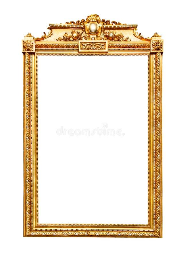 Guld- ram på vit royaltyfria bilder