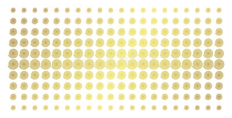 Guld- rastrerat raster för hypnos royaltyfri illustrationer