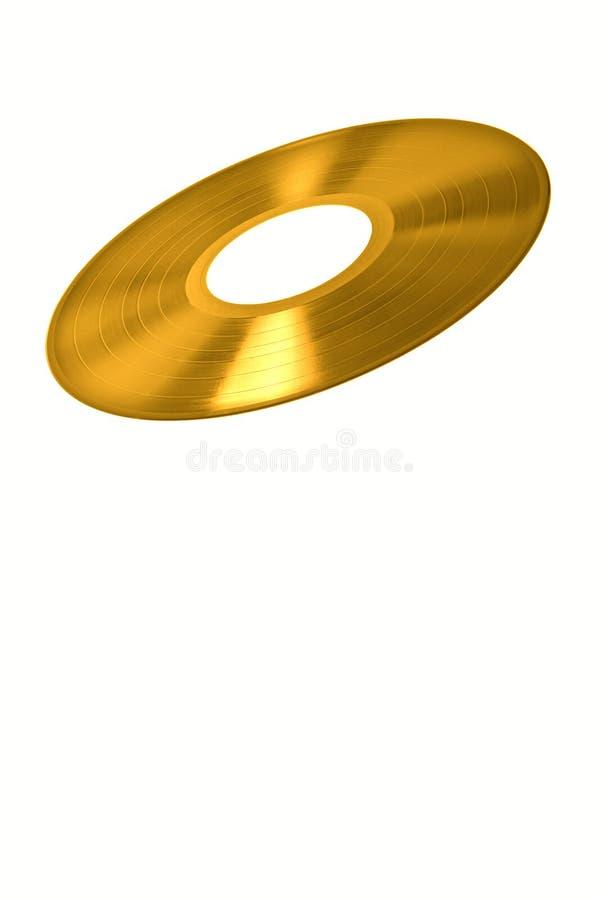 guld registrerad vinyl arkivbilder