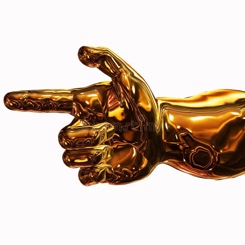 guld- riktning royaltyfri illustrationer