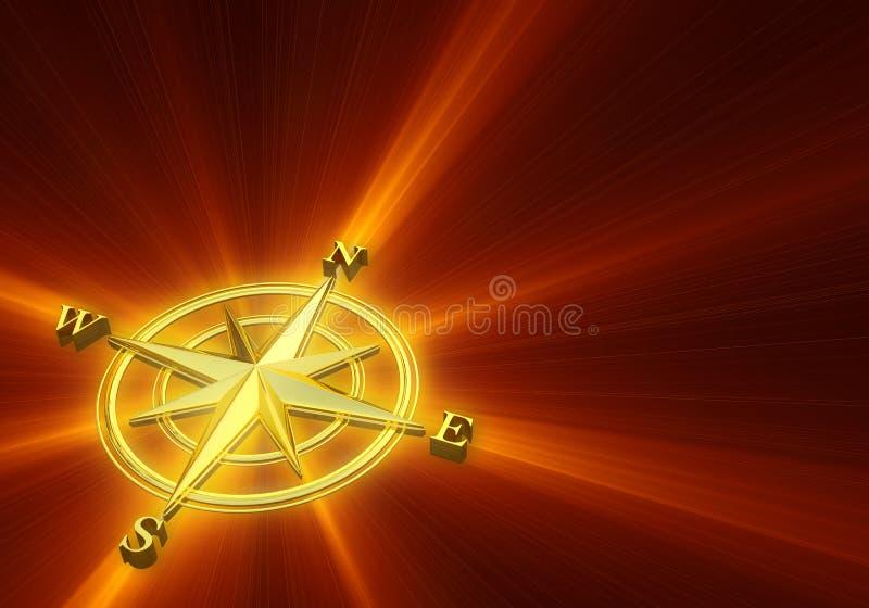 guld- rose wind för bakgrund royaltyfri illustrationer
