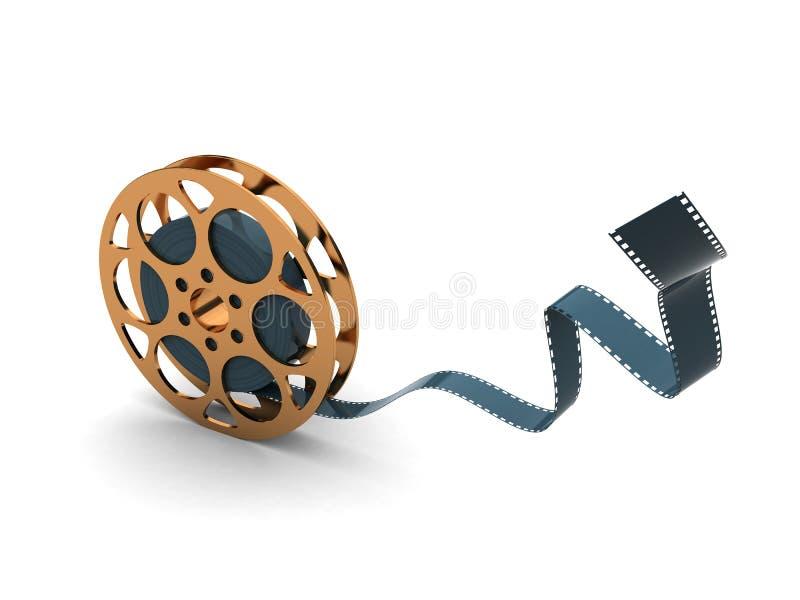 guld- rulle för film vektor illustrationer