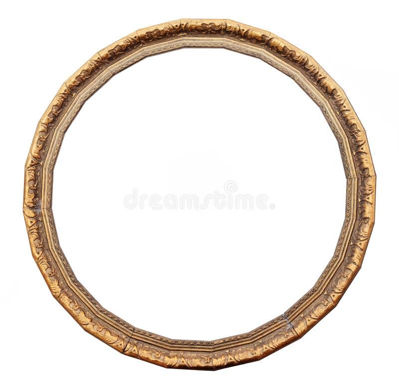 Guld- rund ram för tappning arkivfoton