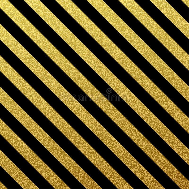Guld- sömlösa linjer modell på vit bakgrund stock illustrationer