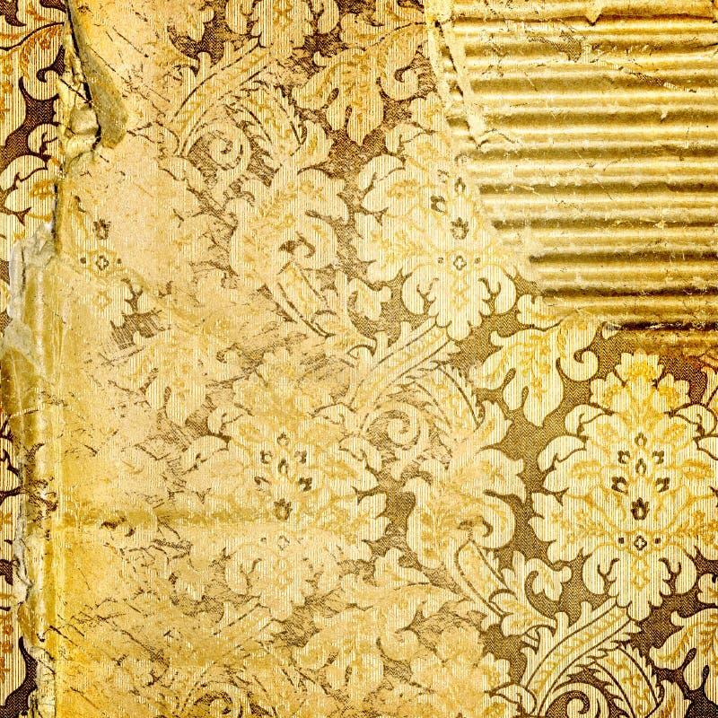 guld- sönderslitet för bakgrund royaltyfri illustrationer