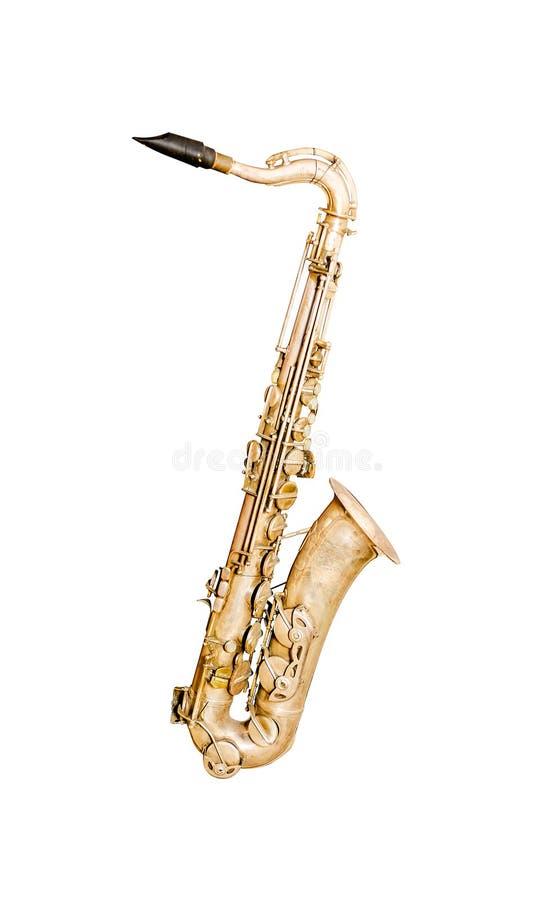 guld- saxofon royaltyfria bilder