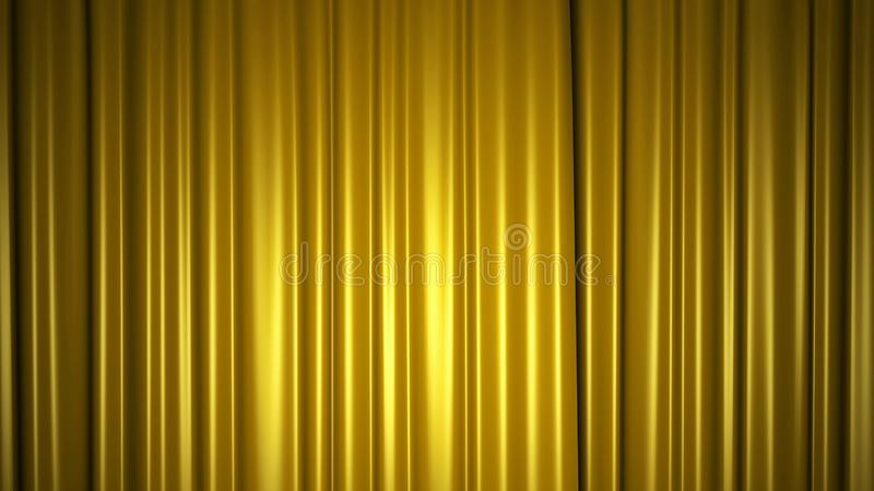 Guld- siden- gardin p arkivfoton