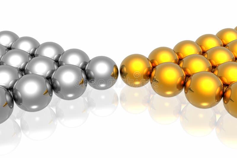 guld- silverlag stock illustrationer