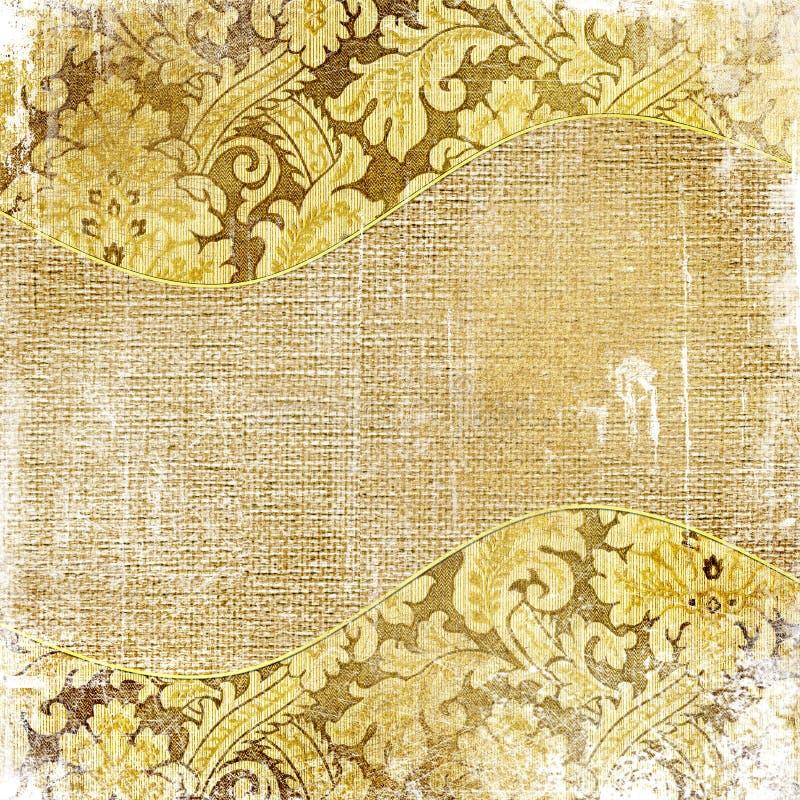 guld- sjaskigt för bakgrund royaltyfri illustrationer