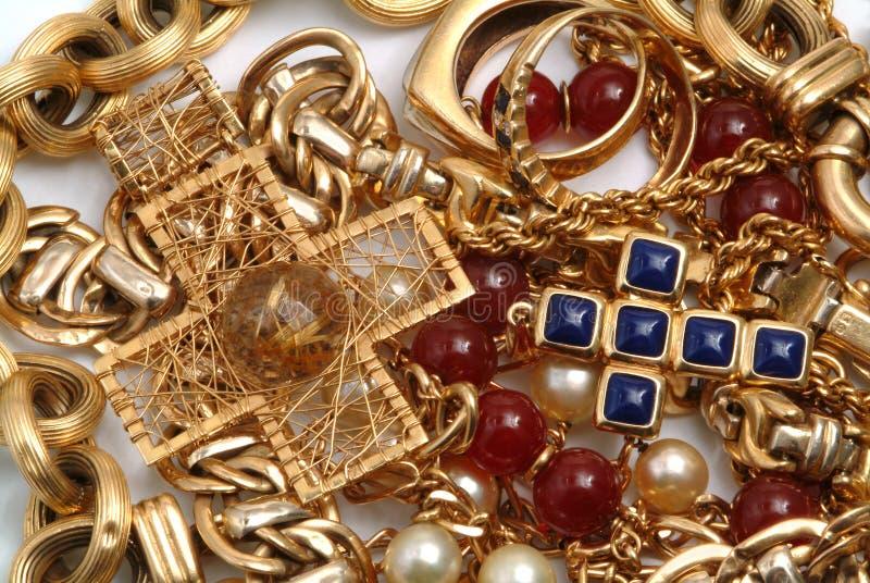 guld- skatt royaltyfri fotografi