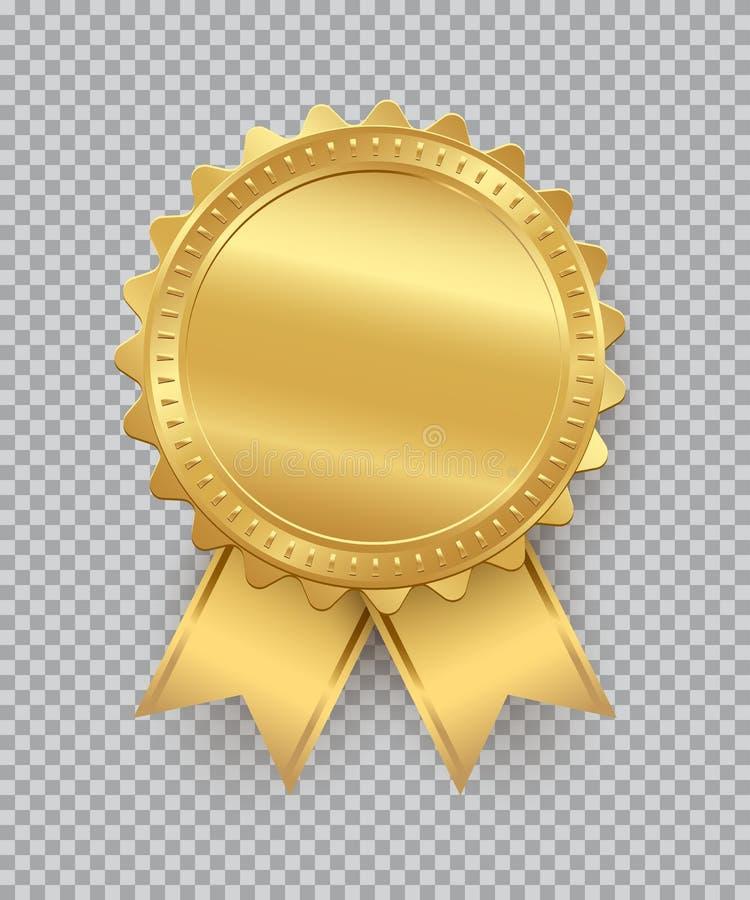 Guld- skyddsremsa med band som isoleras på genomskinlig bakgrund den lätta designen redigerar elementet till vektorn vektor illustrationer