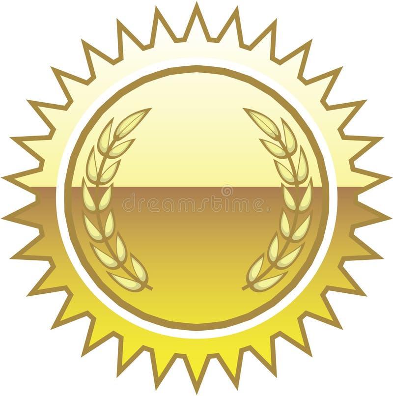 guld- skyddsremsavektor stock illustrationer