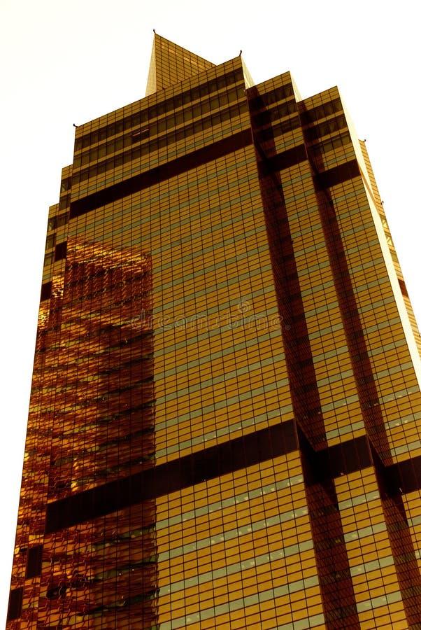 guld- skyskrapa royaltyfri bild